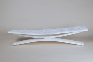 Carolina Olcese - Tavolino legno e sassi