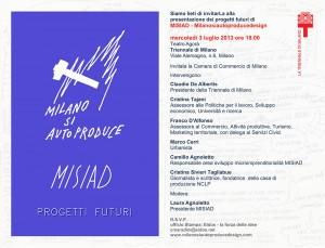Progetti Futuri MISIAD          Milanosiautoproducedesign