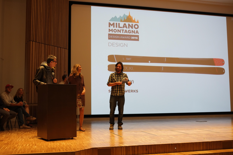 Martino Colonna ritira il premio per Volkl