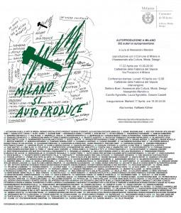 AUTOPRODUZIONE A MILANO 202 autoproduttori si autopresentano