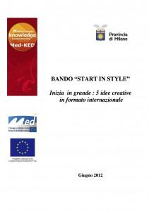 """Bando Provincia di Milano: """"Start in Style"""""""