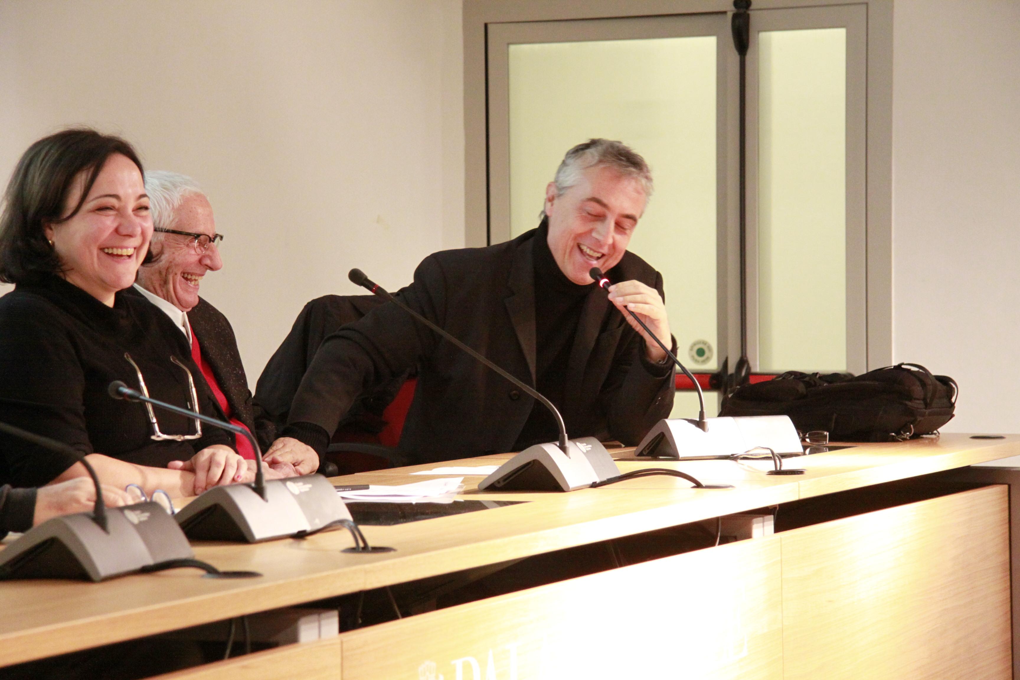 Da destra Assessore Stefano Boeri, Architetto Alessandro Mendini, Silvia Botti