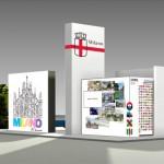 Stand Comune di Milano Bit 2013 progetto di  Laura Agnoletto e Marzio Rusconi Clerici