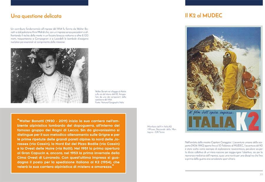 """Pagine del catalogo """"Tracce di montagna tra le righe"""""""